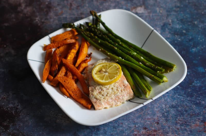 Easy Salmon Asparagus with Sweet Potatoes Recipe