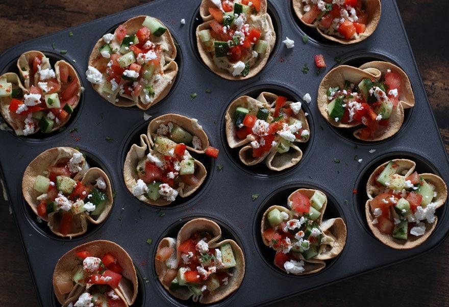 Mediterranean Hummus Bites