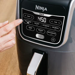ninja air fryer max xl controls