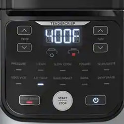 ninja foodi pro pressure cooker controls