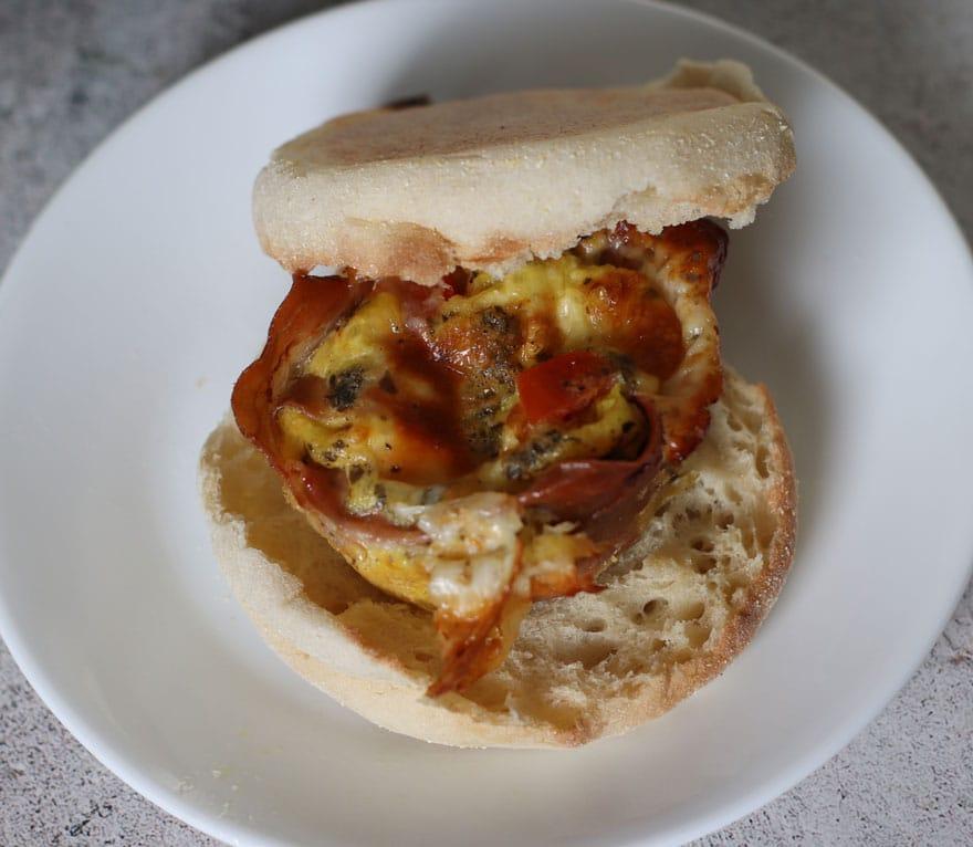 Caprese Egg Cup Sandwich
