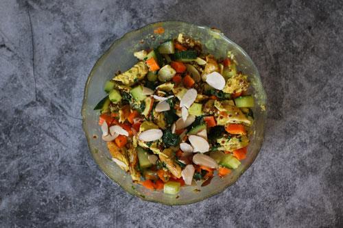 chicken quinoa coconut curry bowl mixed