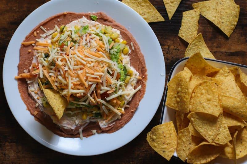 Vegetarian Mexican Layer Dip